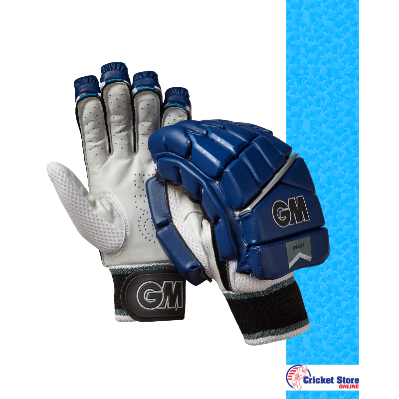 GM Maxi Navy T20 Batting Gloves 2019