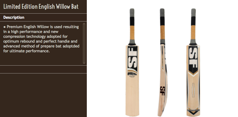 SF Cricket Bats